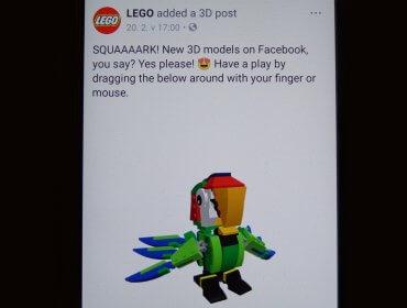 Facebook 3D příspěvky